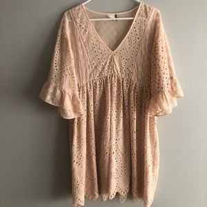 Anthropologie Light Pink Dress
